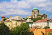 View of an Esztergom Basilica from the Saint Thomas chapel hill, Hungary — Stock Photo