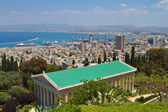 Haifa city view from the Bahai gardens, Israel — Foto de Stock