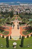 イスラエルのハイファのバハイ ガーデンズ — ストック写真