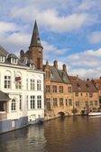 Typical view of Brugge, Belgium — Стоковое фото