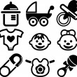 Set of baby icons — Image vectorielle