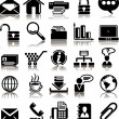 Set from 25 (twenty five) business icons — Stock Vector