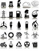 Set of twenty five 25 industrial icons — Stock Vector