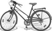 Silueta vector de bicicleta — Vector de stock