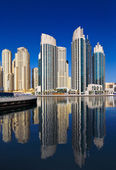 A view of Jumeirah Beach Residence, at Dubai Marina, Dubai — Stock Photo