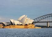 Sydney opera house widok od pani macquaries pkt — Zdjęcie stockowe