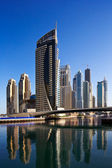 A view of Dubai Marina and JBR — Stock Photo
