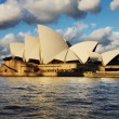Sydney Opera House seen from a Sydney Harbour Ferry - Stock Photo