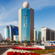 Stock Photo: Architecture, bright flowers, and sunshine of Abu Dhabi