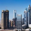 Dubai is synonymous with skyscrapers form a guard of honour along Sheikh Zayed Road — Stock Photo