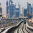 The Dubai Metro is becoming increasingly popular among expatriates trying to battle with the Skeikh Zayed traffic — Stock Photo #15754575
