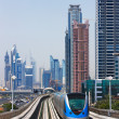 The Dubai Metro is becoming increasingly popular among expatriates trying to battle with the Skeikh Zayed traffic at rush hour — Stock Photo #15754595