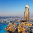 Stockfoto: Downtown Dubai is popular and expensive residential area