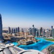 Downtown Dubai is a popular place for shopping and sightseeing, especially the fountain — Stock Photo