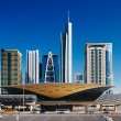 Royalty-Free Stock Photo: Jumeirah Lakes Towers is a rapidly expanding district of Dubai and is graced by many beautiful architectural towers and a new metro station