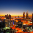Teacom, Dubai is a rapidly expanding district especially especially along Sheikh Zayed Road — Stock Photo