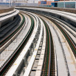 The curved metro line tracks of Dubai look like industrial art — Stock Photo