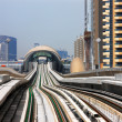 The Dubai Metro line is like an undulating vertical curve — Stock Photo