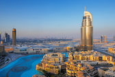 Downtown Dubai is a popular neighborhood for tourists — Stock Photo
