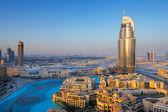 Downtown Dubai is a popular neighborhood for tourists — Stock Photo