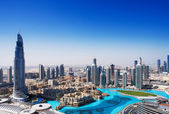 DOWNTOWN DUBAI is one of the most popular parts of Dubai — Stock Photo