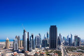 DIFC is the financial hub of Dubai and is graced with beautiful skyscrapers — Stock Photo