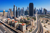 DIFC is the financial hub of Dubai and is graced with very exciting architecture — Stok fotoğraf