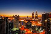 Teacom, Dubai is a rapidly expanding district especially especially along Sheikh Zayed Road — Stock Photo