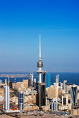 Kuwait City has embraced contemporary architecture and tall towers now populate the city skyline — Stock Photo
