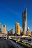 The Kuwait City Skyline is rapidly becoming populated by skyscrapers — Stock Photo