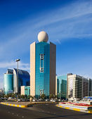 Abu Dhabi is graced by many beautiful buildings especially along the Corniche — Stock Photo