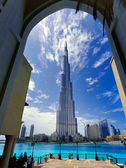 The tallest building in the world stands at 828 m tall — Stock Photo