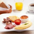 A traditional breakfast - Stock Photo
