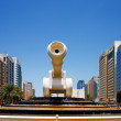 Stock Photo: Cannon sculpture in Abu Dhabi UAE