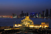 A cityscape view of Doha at Dusk — Stock Photo