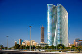 Beautiful curvilinear Architecture of Abu Dhabi — Stock Photo
