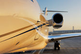 Beautiful shape of a private jet — Stock Photo
