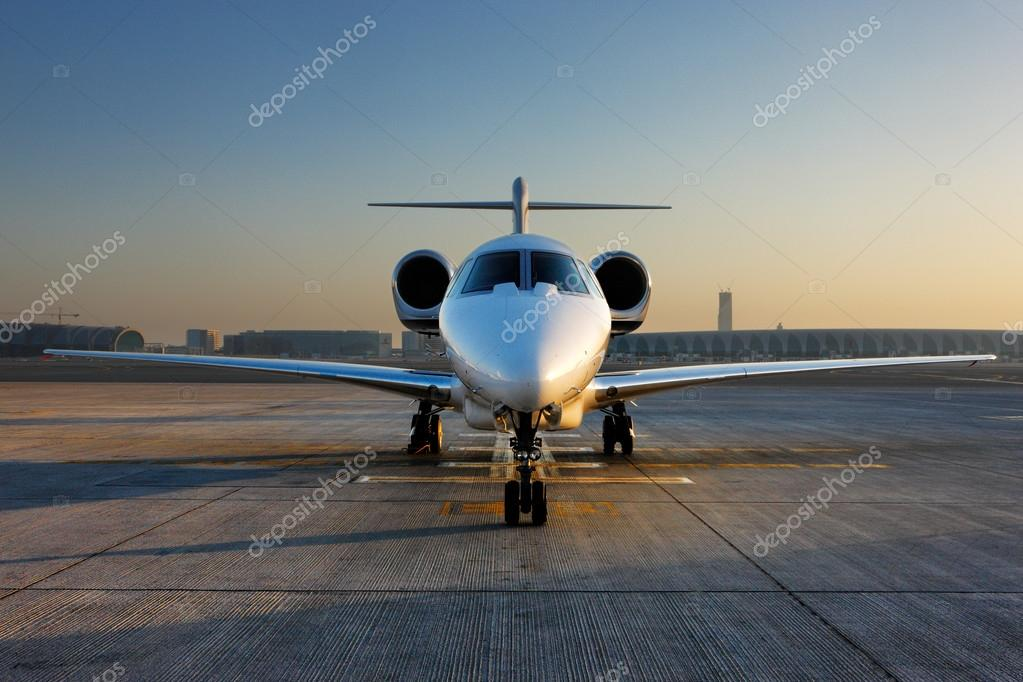 A Front On View Of A Private Jet  Stock Photo  Sophie_James 17457243