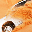 4x4 dune bashing is a popular sport of the Arabian desert — Stock Photo
