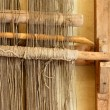 Stock Photo: Ancient hand loom used to weave blankets
