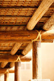 The roofs of ancient Arabia were secured without nails and bolts — Stock Photo