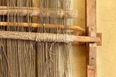 An ancient hand loom used to weave blankets — Stock Photo