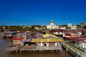 Famed water village of Brunei's capital city — Stock Photo