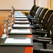 Stock Photo: A detail shot of a meeting room