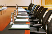 A detail shot of a meeting room — Stock Photo