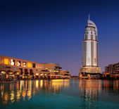 Dubai Mall with the Luxerious Address Hotel — Stock Photo