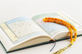 The Masbaha, also known as Tasbih with the Quran — Stock Photo