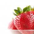 A group of organic fresh strawberries — Stock Photo