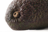 A fresh organic avocado against a white background — Stock Photo