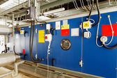 Industrial installation for converting solar energy into electrical energy — Stock Photo